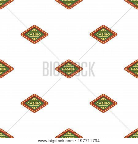 The emblem of the playing club with the inscription of the casino.Kasino single icon in cartoon style vector symbol stock web illustration.