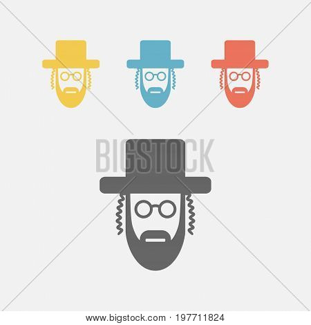 Orthodox jew icon. Vector sign for web graphics.