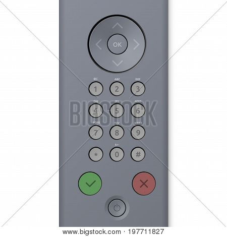 Keypad Control Panel With Buttons. EPS10 Vector