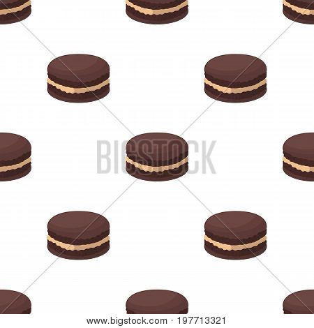 Chocolate biscuit icon in cartoon design isolated on white background. Chocolate desserts symbol stock vector illustration.