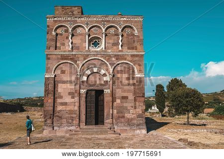 The Church Of Nostra Signora Di Tergu In Summer Landscape. Sassari. Sardinia. Italy.