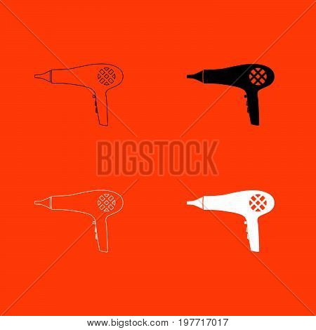 Blow Dryer . Hair Dryer Icon .