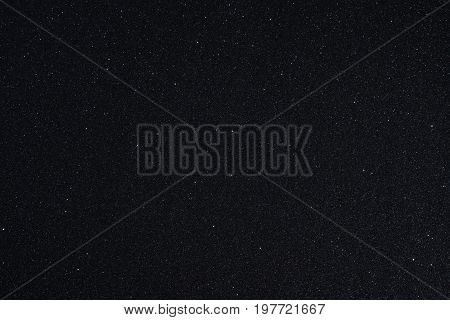 Black volcanic sand background looks like a space, texture