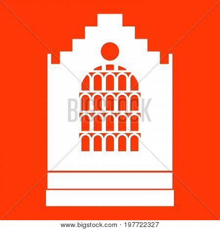 Church Building White Icon .