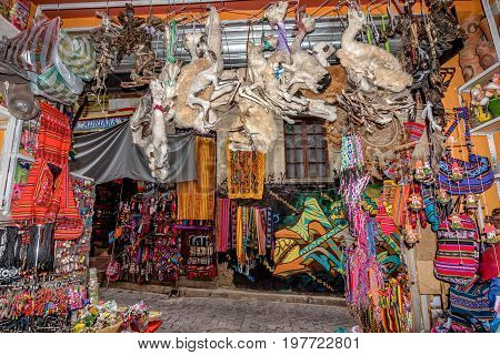 Witches Market in La Paz Bolivia, South America