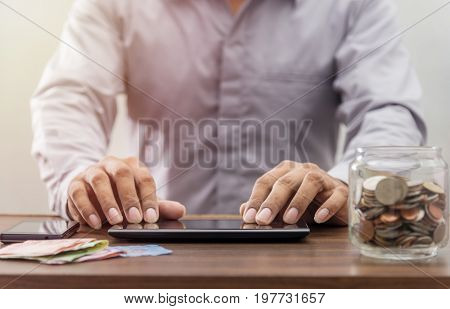 Technology Network Online Banking And Internet Banking And Networking People Concept
