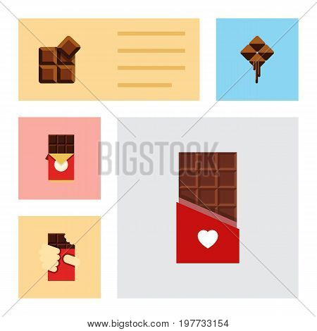 Flat Icon Cacao Set Of Shaped Box, Delicious, Cocoa And Other Vector Objects