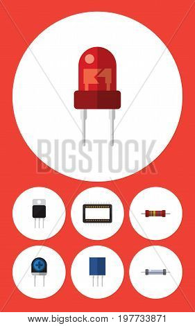 Flat Icon Appliance Set Of Recipient, Receptacle, Transducer And Other Vector Objects