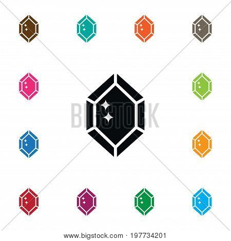 Wealthy Vector Element Can Be Used For Diamond, Wealthy, Gem Design Concept.  Isolated Diamond Icon.