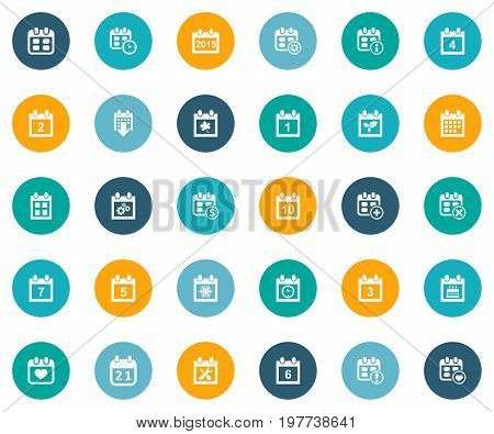 Elements Inform, Day, Business Plan And Other Synonyms Calendar, Appointment And Autumn.  Vector Illustration Set Of Simple Time Icons.