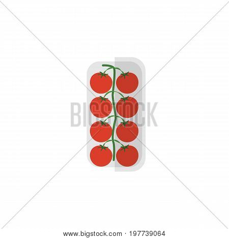 Tomato Vector Element Can Be Used For Love, Apple, Tomato Design Concept.  Isolated Love Apple Flat Icon.
