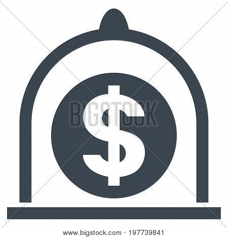 Dollar Standard vector icon. Flat smooth blue symbol. Pictogram is isolated on a white background. Designed for web and software interfaces.