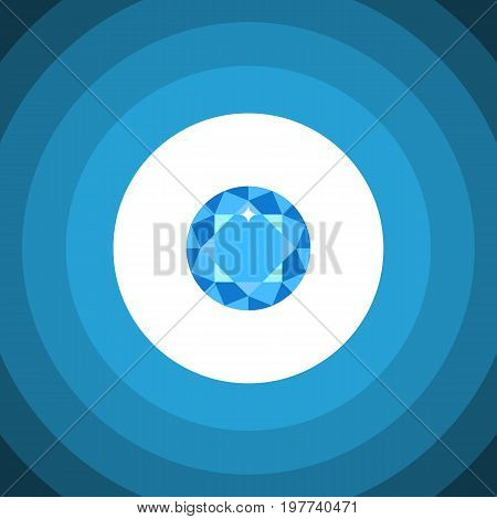 Diamond Vector Element Can Be Used For Diamond, Brilliant, Gem Design Concept.  Isolated Brilliant Flat Icon.