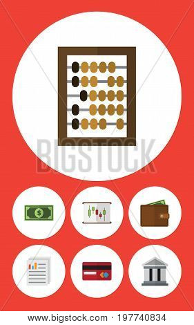 Flat Icon Incoming Set Of Payment, Counter, Greenback And Other Vector Objects