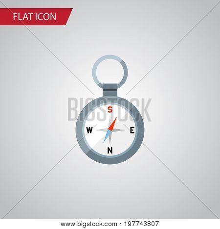 Direction Vector Element Can Be Used For Direction, Magnet, Navigator Design Concept.  Isolated Magnet Navigator Flat Icon.