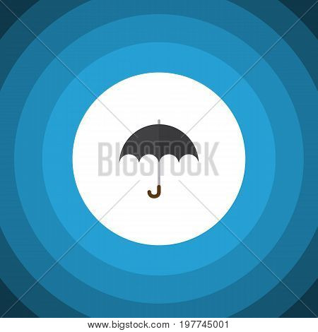 Parasol Vector Element Can Be Used For Parasol, Umbrella, Beach Design Concept.  Isolated Umbrella Flat Icon.