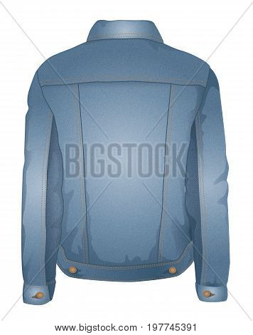 A vector denim jacket with denim texture.