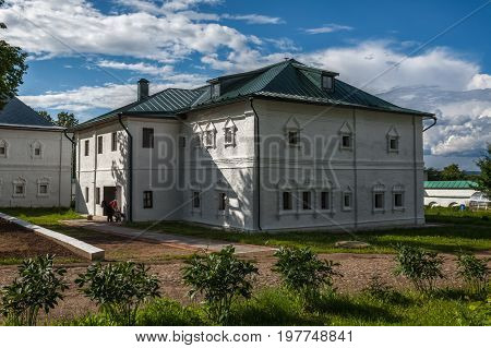 hot day in women's Feodorovsky Monastery in Pereslavl-Zalessky
