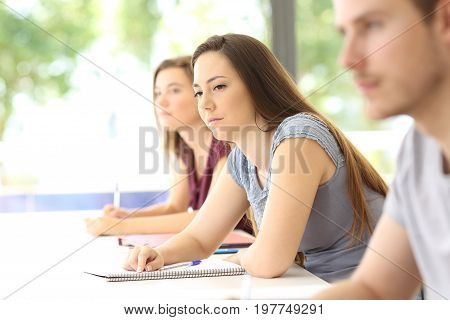 Distracted Student In A Classroom