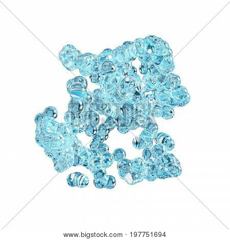 water buble splash on white background. Abstract 3d rendering illustration
