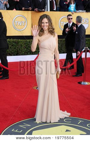 LOS ANGELES - JAN 30:  Hilary Swank arrives at the 2011 Screen Actors Guild Awards  at Shrine Auditorium on January 30, 2011 in Los Angeles, CA