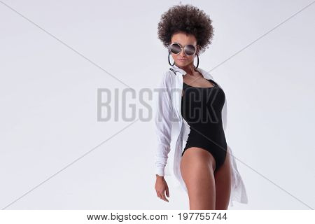 Attractive African American Woman Posing