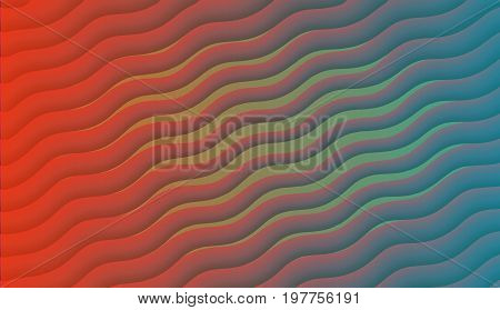 Multicolor abstract background. Red and green waves Modern conceptual advertising sales music 16: 9