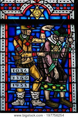 Stained Glass In Worms - Antisemitism In Nazi Germany