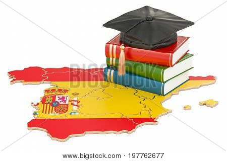 Education in Spain concept 3D rendering isolated on white background