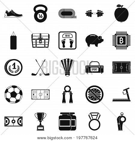 Weekend icons set. Simple set of 25 weekend vector icons for web isolated on white background