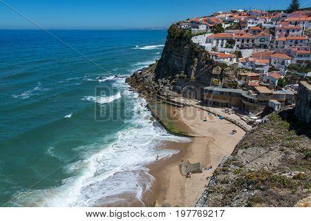 Azenhas do Mar Portugal. 04 July 2017. Azenhas do Mar beach in Azenhas do Mar. Azenhas do Mar Portugal. photography by Ricardo Rocha.