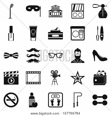 Social events icons set. Simple set of 25 social events vector icons for web isolated on white background
