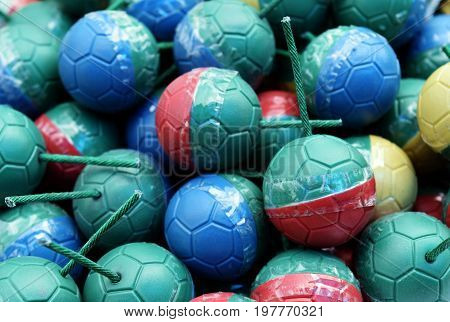 detail colorful mini bomb ball for background