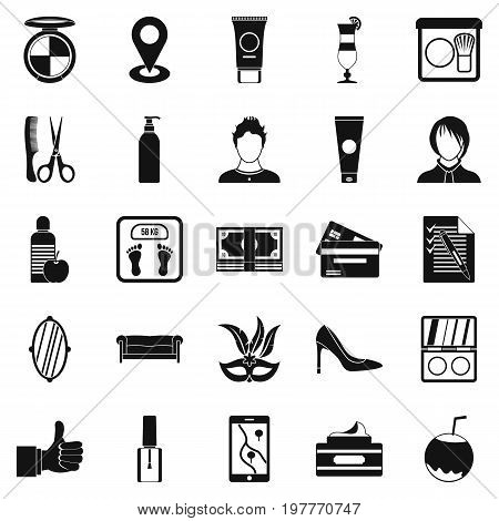 Maquillage icons set. Simple set of 25 maquillage vector icons for web isolated on white background
