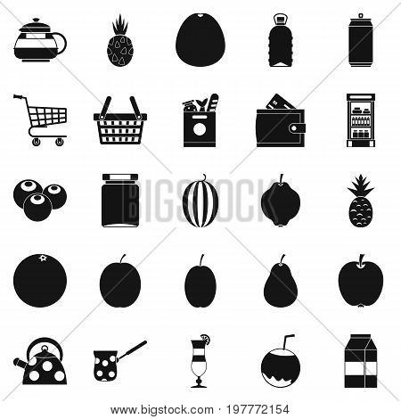 Kettle icons set. Simple set of 25 kettle vector icons for web isolated on white background