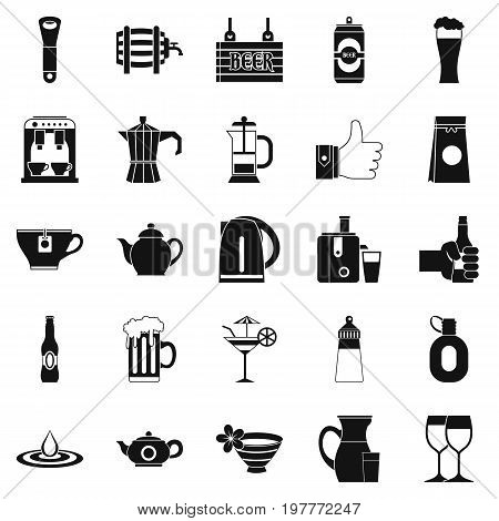 Malt icons set. Simple set of 25 malt vector icons for web isolated on white background