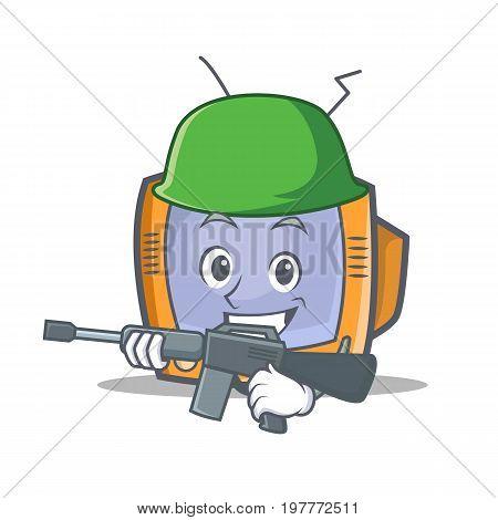 Army TV character cartoon object vector illustration