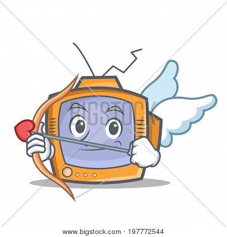Cupid TV character cartoon object vector illustration