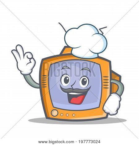Chef TV character cartoon object vector illustration