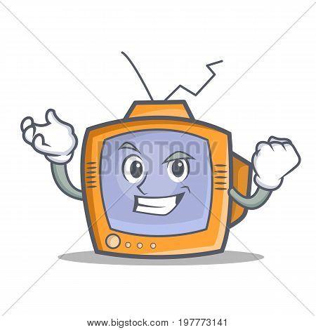 Successful TV character cartoon object vector illustration