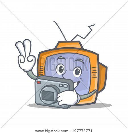 Photography TV character cartoon object vector illustration