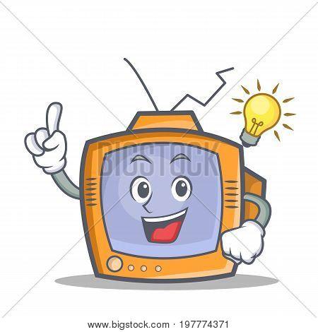 Have an idea TV character cartoon object vector illustration