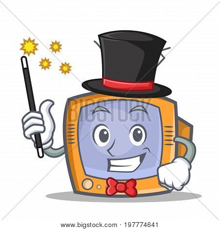 Magician TV character cartoon object vector illustration