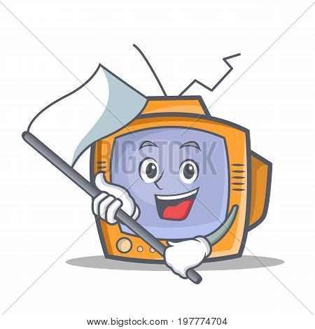 TV character cartoon object with flag vector art