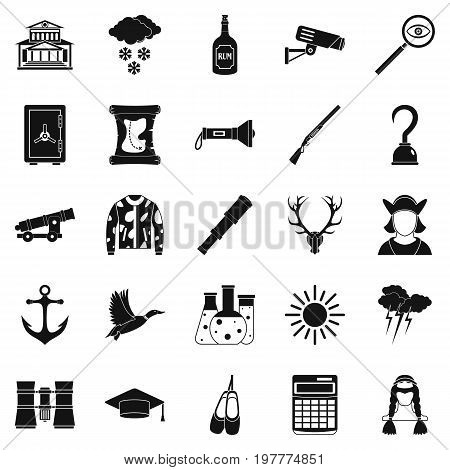 Hunt icons set. Simple set of 25 hunt vector icons for web isolated on white background