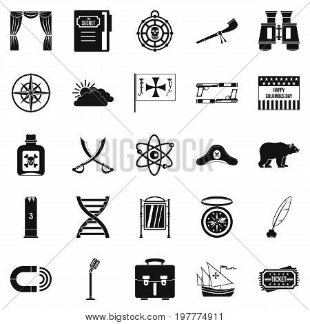 Pirates icons set. Simple set of 25 pirates vector icons for web isolated on white background