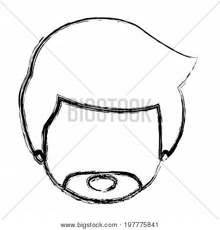 monochrome blurred silhouette of caricature faceless man with van dyke beard vector illustration