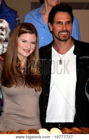 LOS ANGELES - FEB 7:  Heather Tom, Don Diamont at the 6000th Show Celebration at The Bold & The Beautiful at CBS Television City on February 7, 2011 in Los Angeles, CA
