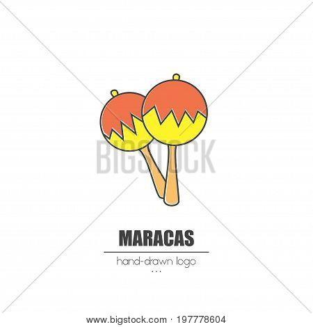 Nice Looking Hand-drawn Logo Maracas.