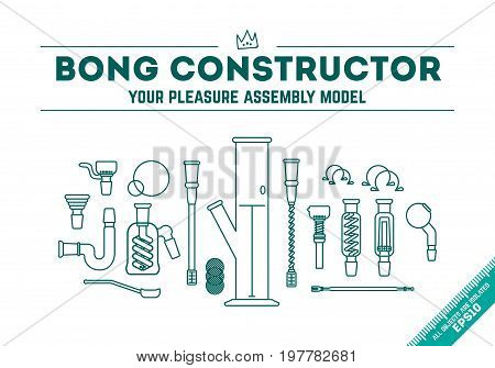 Vector Illustration - Bong Constructor
